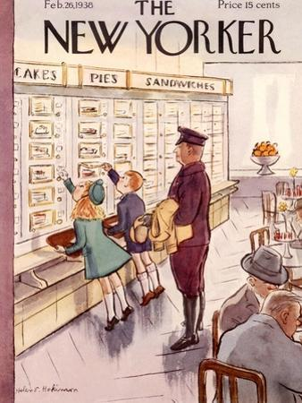 The New Yorker Cover - February 26, 1938 by Helen E. Hokinson