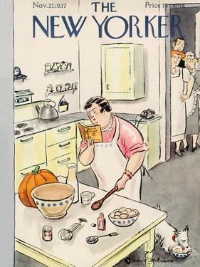 The New Yorker Cover - November 27, 1937 by Helen E. Hokinson