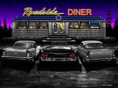 Roadside Diner - Black and White
