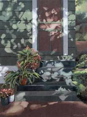 Backsteps Revisited, c.1993 by Helen J^ Vaughn