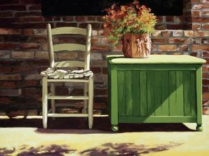 Chair on Sally's Patio by Helen J^ Vaughn