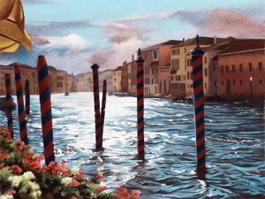 Dockside in Venice by Helen J^ Vaughn