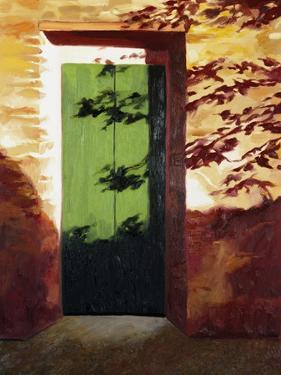 Green Door by Helen J^ Vaughn