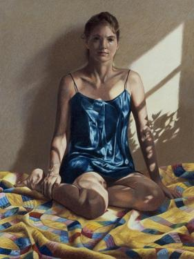 Light and Shadows and a Seated Woman, c.1997 by Helen J^ Vaughn