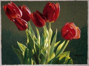 Red Tulips by Helen J^ Vaughn