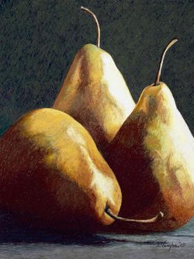Three Big Pears by Helen J^ Vaughn