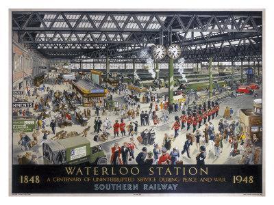 Waterloo Station, Southern Railway, 1948