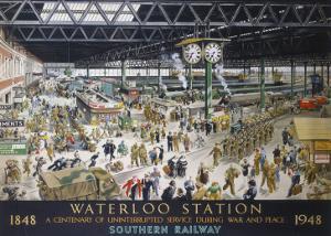 Waterloo Station, War, SR, c.1948 by Helen Mckie