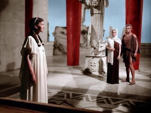 HELEN OF TROY, 1954 directed by ROBERT WISE Rosanna Podesta and Jacques Sernas (photo)