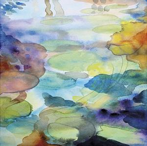 Ornamental Pond 2 by Helen Wells