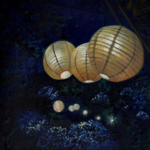 Night garden I, 2014, by Helen White