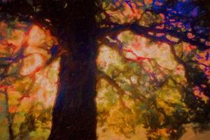 Under Spreading Oak, 2019, painting by Helen White