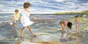 Collecting Seashells by Hélène Léveillée