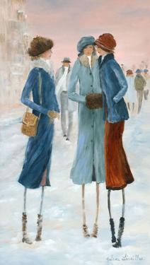 Three Ladies in the snow by Hélène Léveillée