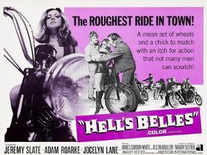 HELL'S BELLES, Jocelyn Lane (left), center from left: Jeremy Slate, Jocelyn Lane, Adam Roarke, 1970