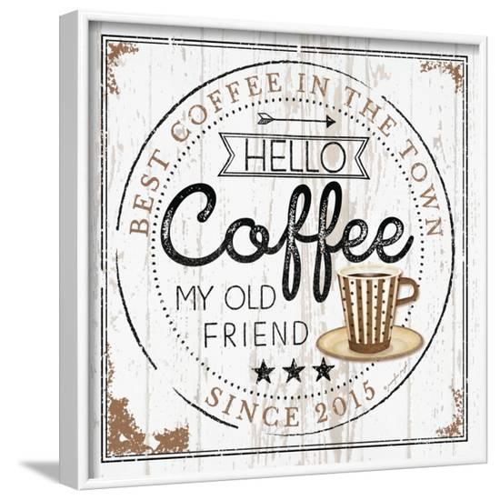 Hello Coffee-Jennifer Pugh-Framed Art Print