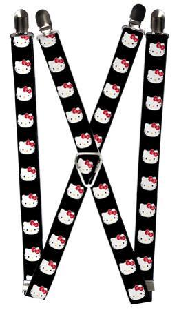 Hello Kitty - Expressions Black Suspenders