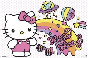 Hello Kitty - Retro Rainbow