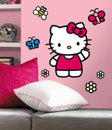 Hello Kitty-The World of Hello Kitty Peel & Stick Giant Wall Decals