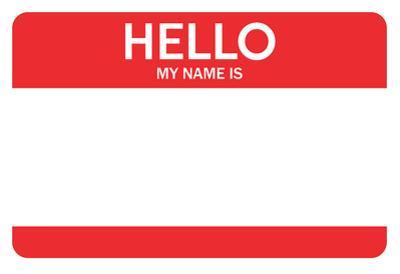 Hello My Name Is...(Red)