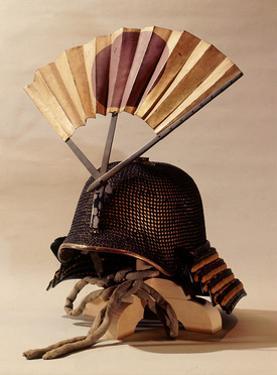Helmet Adorned with a War Fan