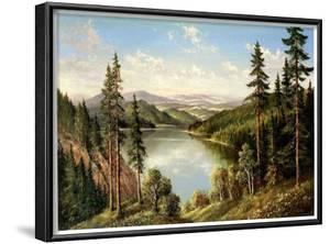 High Mountain Lake by Helmut Glassl