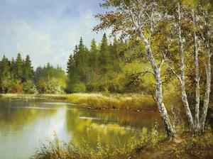 Secret Pond by Helmut Glassl