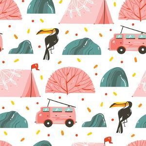 Camping Illustration by Helter skelter