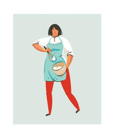 Illustration of Cooking Chef Woman by Helter skelter