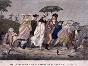 Helter Skelter - or a Shower on Greenwich Hill, London, 1798