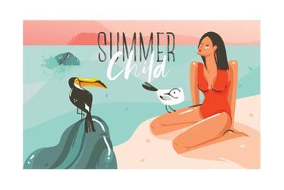 Summer Child - Summer Time Illustration by Helter skelter