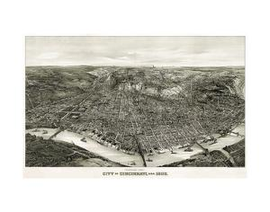 Panoramic View of the City of Cincinnati, Ohio, 1900 by Henderson Litho Co^