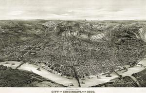 Panoramic View of the City of Cincinnati, Ohio, 1900 by Henderson Litho Co.