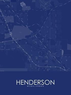 Henderson, United States of America Blue Map
