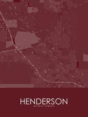 Henderson, United States of America Red Map