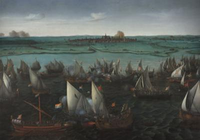 Battle Between Dutch and Spanish Ships on the Haarlemmermeer, C.1629