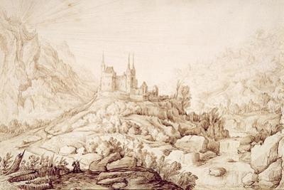 Mountainous Landscape with a Castle, C.1589