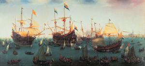The Return to Amsterdam of the Second Expedition to the East Indies, 19 July 1599 by Hendrick Cornelisz Vroom