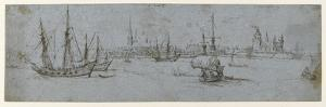 View of Elsinore and Kronborg Castle, a Study of Ships under Sail, 1615-29 by Hendrick Cornelisz. Vroom