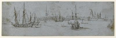 View of Elsinore and Kronborg Castle, a Study of Ships under Sail, 1615-29