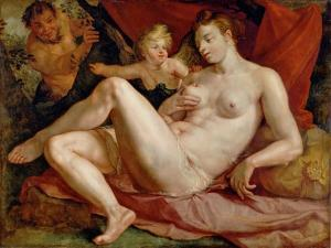 Jupiter and Antiope by Hendrick Goltzius