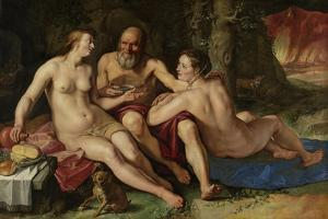 Lot and His Daughters by Hendrick Goltzius