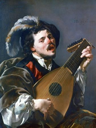A Man Playing a Lute, 1624