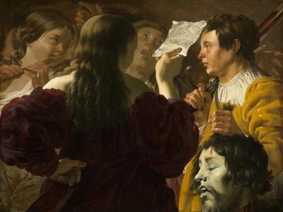 David Praised by the Israelite Women, 1623 by Hendrick Ter Brugghen