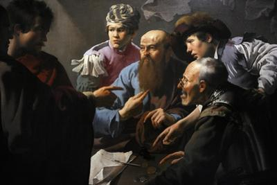 The Calling of St Matthew, 1621, by Hendrick Ter Brugghen (1588-1629). Netherlands