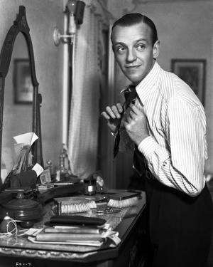 Fred Astaire Fixing Neck Tie by Hendrickson