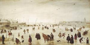 Scene on the Ice by Hendrik Avercamp