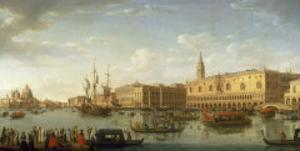 Venice: The Bacino di San Marco, with the Doge's Palace and Entrance to the Grand Canal, 1729 by Hendrik Frans Van Lint