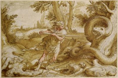 Cadmus About to Attack a Dragon
