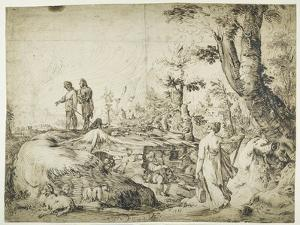 Landscape with Peasants by a Hut, 1593 by Hendrik Goltzius
